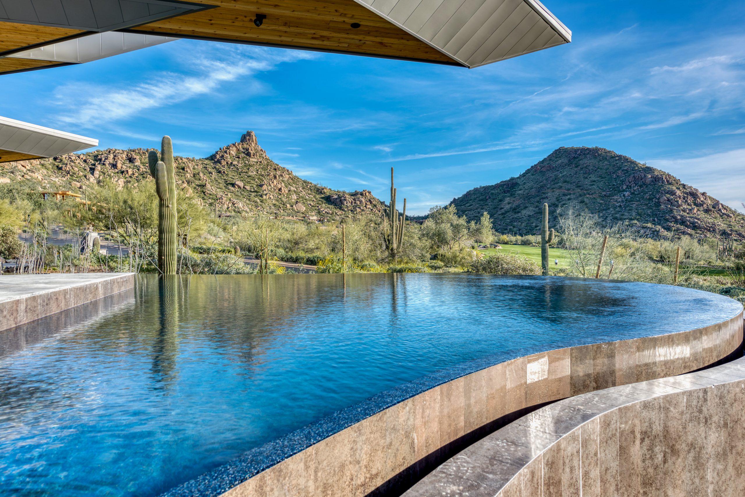 Peak Ventures Inc Estancia Lot 215 Contemporary Infinity Edge Pool