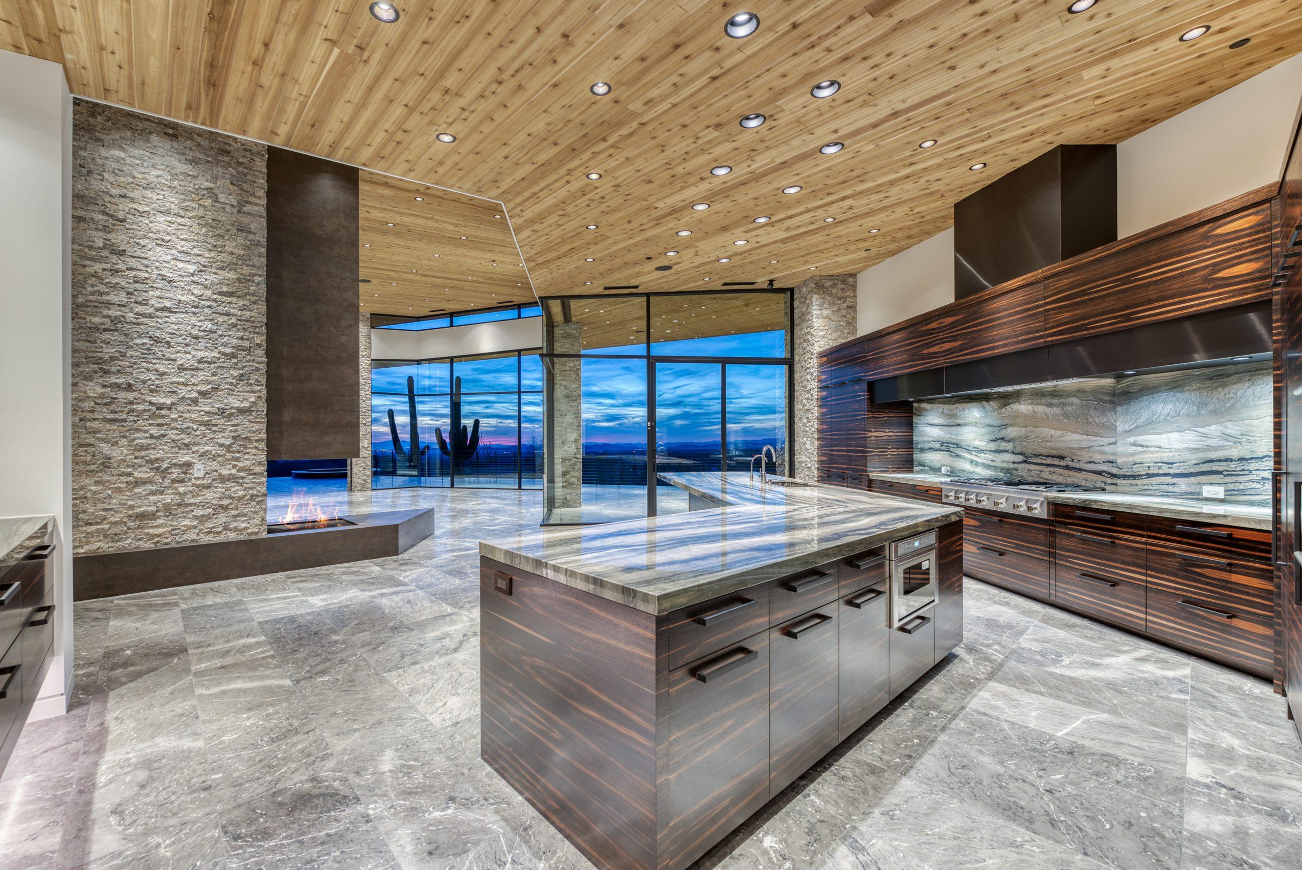 Peak Ventures Inc Estancia Lot 215 Contemporary Living Room and Large kitchen