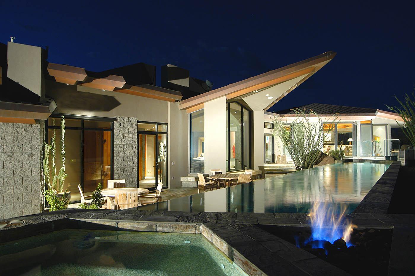 Peak Ventures custom homes - estancia lot 4 Fire Pit