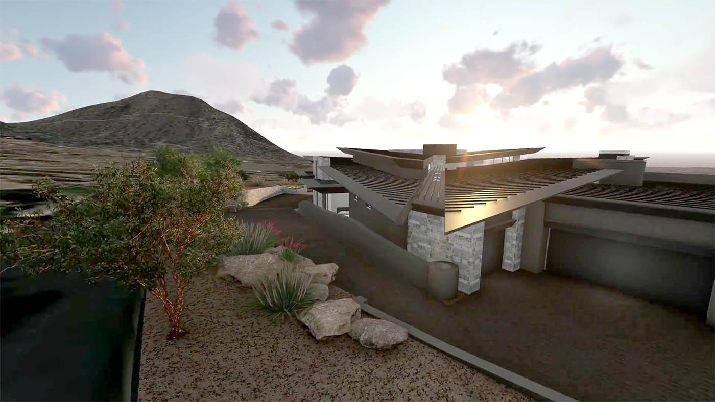 Peak ventures Peak Ventures custom homes - estancia lot 215 - artist rendering pre-construction